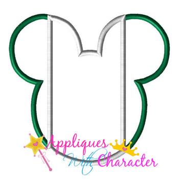 Nigerian Nigeria Flag Mr Mouse Head Epcot  Applique Design