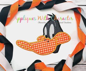Daffy Duck Full Face Applique Design