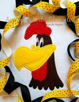 Foghorn Leghorn Full Face Applique Design