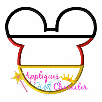 Germany German Flag Mr Mouse Head Epcot Applique Design