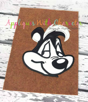 Pepe Le Pew Full Face Applique Design
