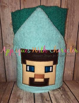 Minecraft Boy Peeker Applique Design