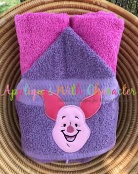 Honey Bear Pig Full Face Applique Design