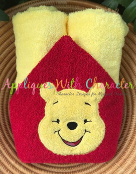 Honey Bear Full Face Applique Design