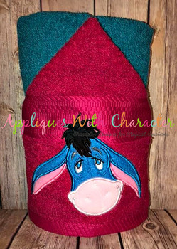 Honey Bear Eeyore Full Face Applique Design