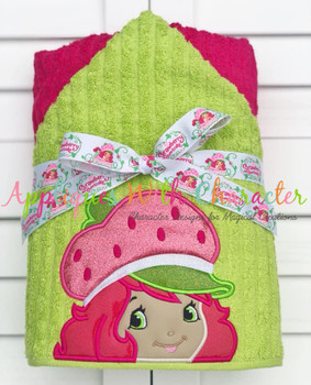 Strawberry Girl Peeker Applique Design