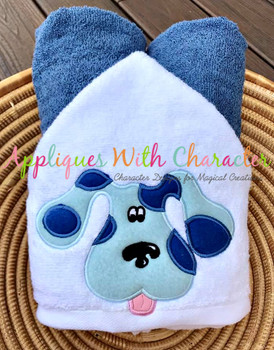 Blue Full Face Applique Design