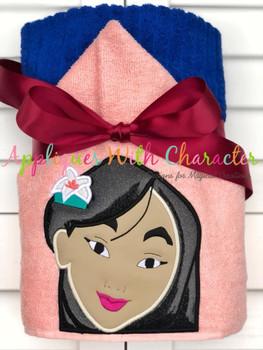 Asian Warrior Princess Applique Design