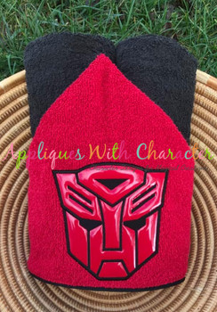 Transformer Autobot Full Face Applique Design