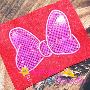 Miss Mouse Bow Applique Design