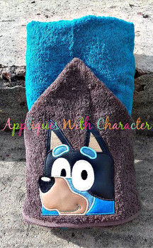 Bluey the Dog Peeker Applique Design