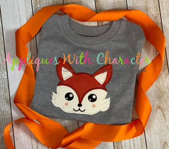 Woodland Fox Peeker Applique Design