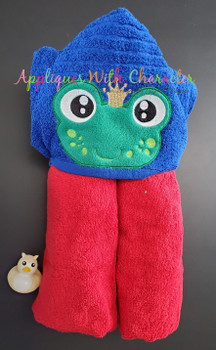 Frog Prince Peeker Applique Design