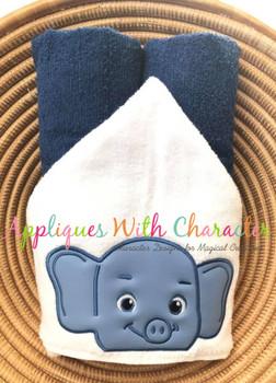 Bailey Elephant Peeker Applique Design
