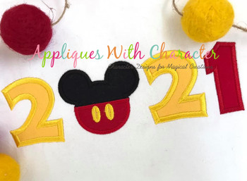 2021 Mr Mouse Head Applique Design