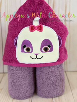 Lulu Panda Peeker Applique Design