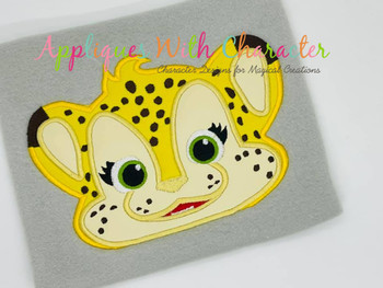 Franny Cheetah Peeker Applique Design