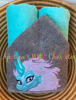 Raya's Dragon PeekerApplique Design
