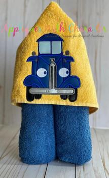 Blue Truck Applique Design