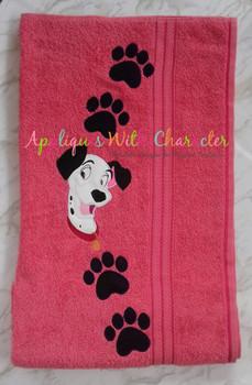 Pongo Dalmatian Dog Applique Design