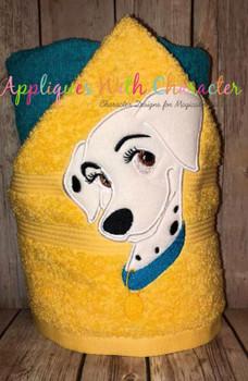 Perdita Dalmatian Dog Applique Design