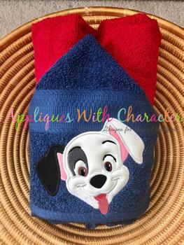 Patches Dalmatian Puppy Applique Design