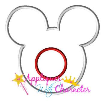 Japan Japanese Flag Mr Mouse Head Epcot Applique Design