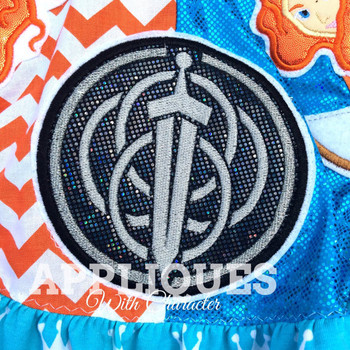 Bravery Movie Crest Applique Design
