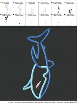 Dorie Whale Shark Movie Applique Design