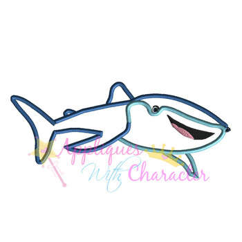 Dorie Whale Shark Movie Applique Design
