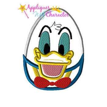 Don Duck Easter Egg Applique Design