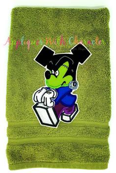 Halloween Mr Mouse Frankenstein  Applique Design