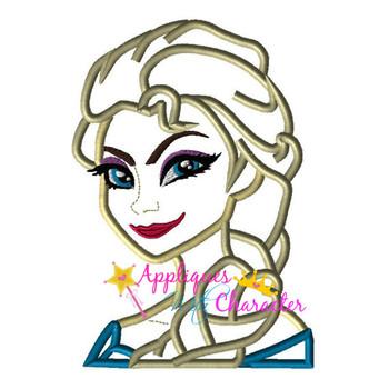 Frozen Elsa Applique Design