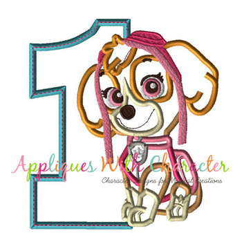 Pup Patrol Skye One Applique
