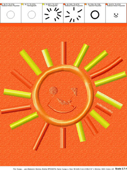 Smiling Sun Applique Design