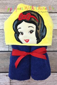 Snow Girl Peeker Applique Design
