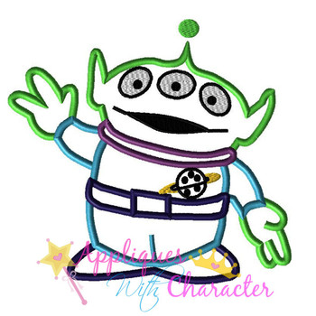 Toy Story Alien Toy Applique Design