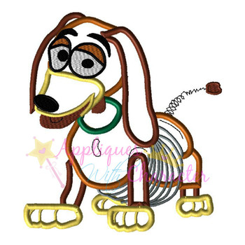 Toy Story Slinky Dog Toy Applique Design