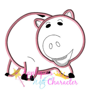 Toy Story Pig Bank Toy Applique Design