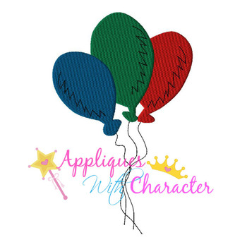 Balloons Applique Design