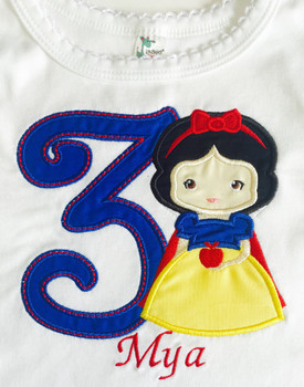 Snow Girl Cutie THREE Applique Design