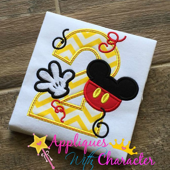 Mr Mouse Two Applique Design
