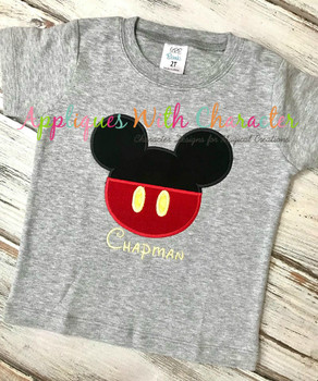 Mr Mouse Clubhouse Head Applique Design