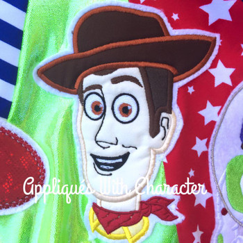 Toy Story Woody Toy Applique Design