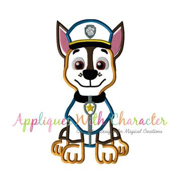 Pup Patrol Chasie Applique Design