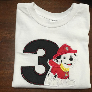 Paw Marshill Pup THREE Applique Design