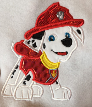 Pup Patrol Marshill Applique Design