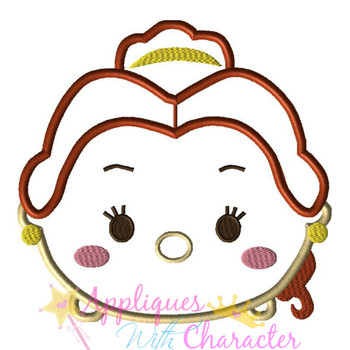 Beauty Bella Tsum Tsum Applique Design