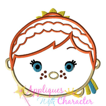 Frozen Anna Summer Tsum Tsum Applique Design
