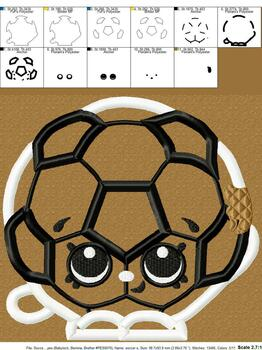 Shopikins Soccer Applique Design